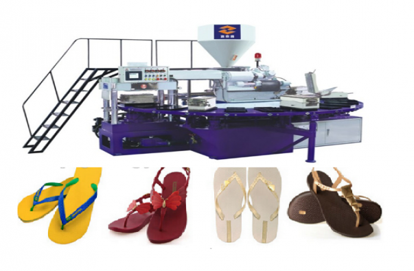 Rubber plastic slippers making machine/production line