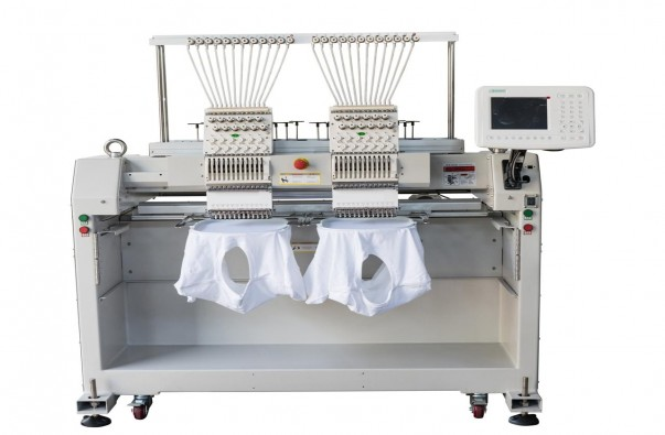 2 Heads Garment Embroidery Processing Machine