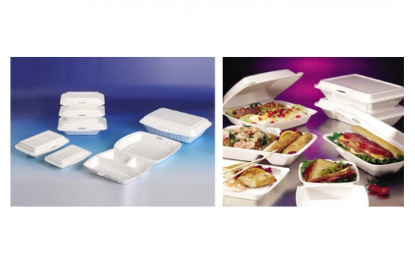 Disposable lunch box production line